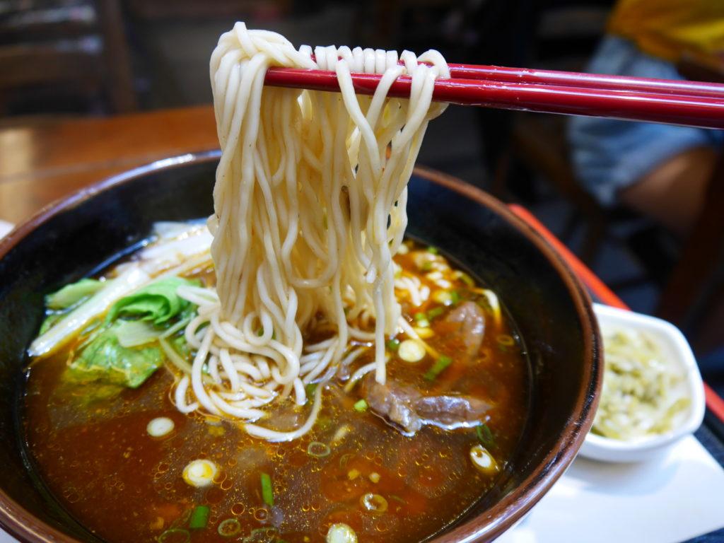 春水堂一号店の牛肉麺の麺
