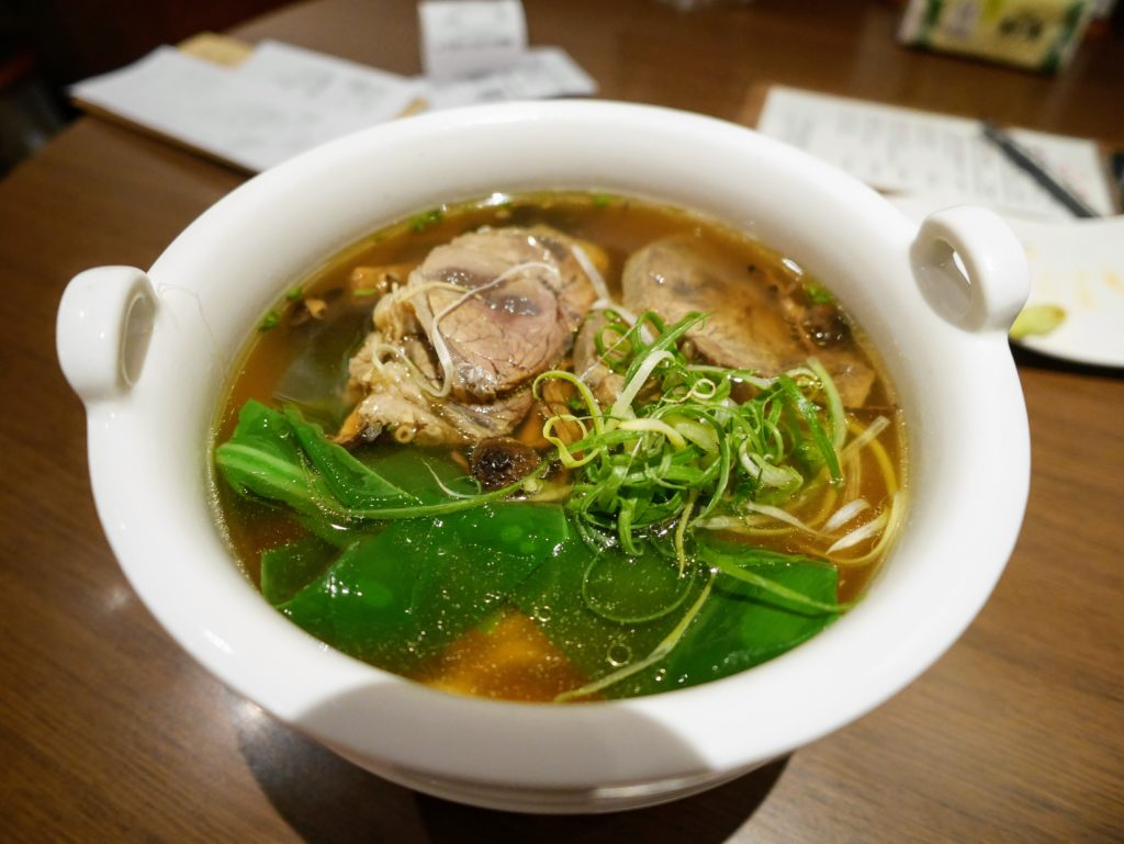 府城晶華の名物牛肉麺
