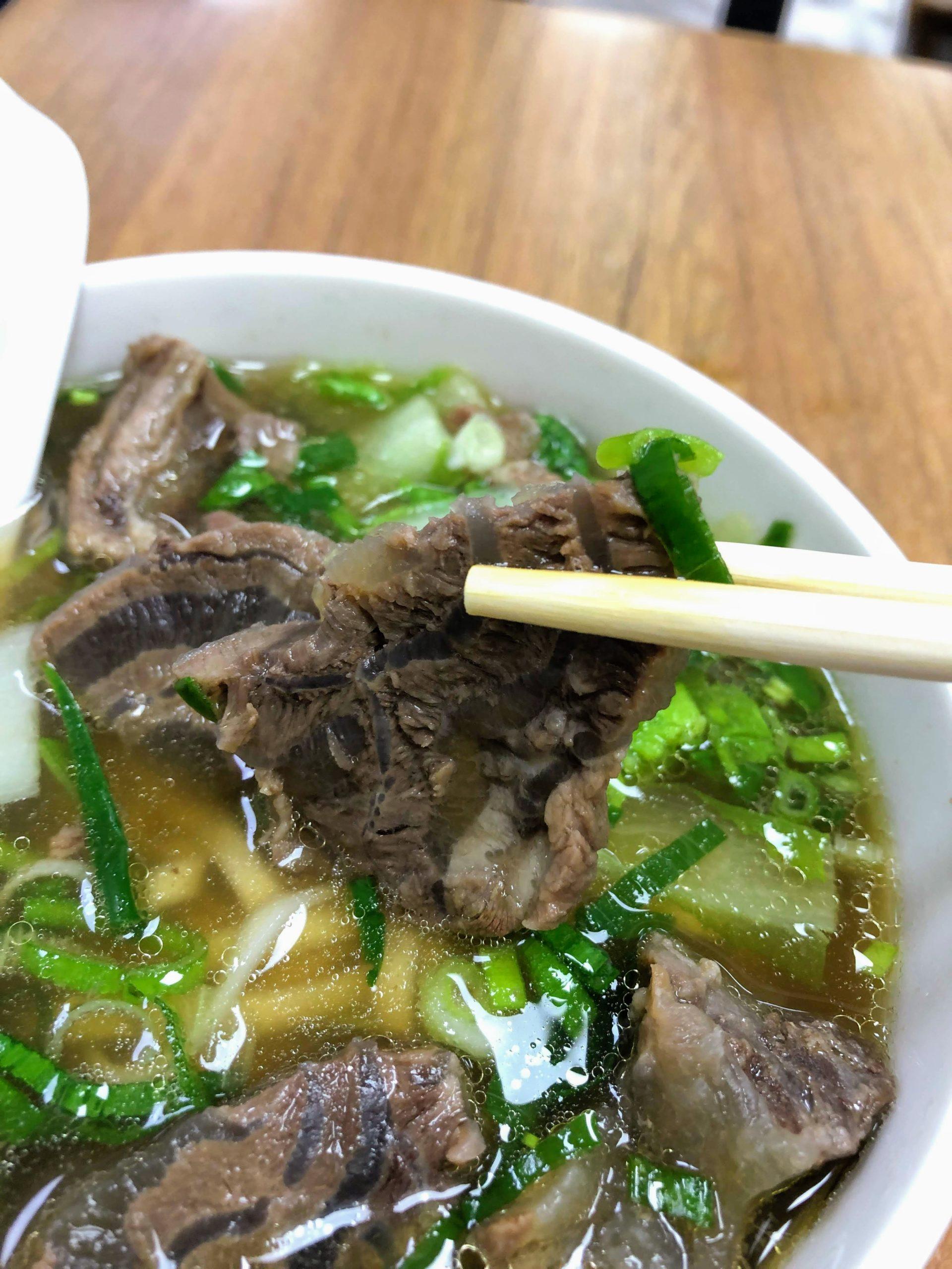 大庭牛肉麺の牛肉麺の牛肉