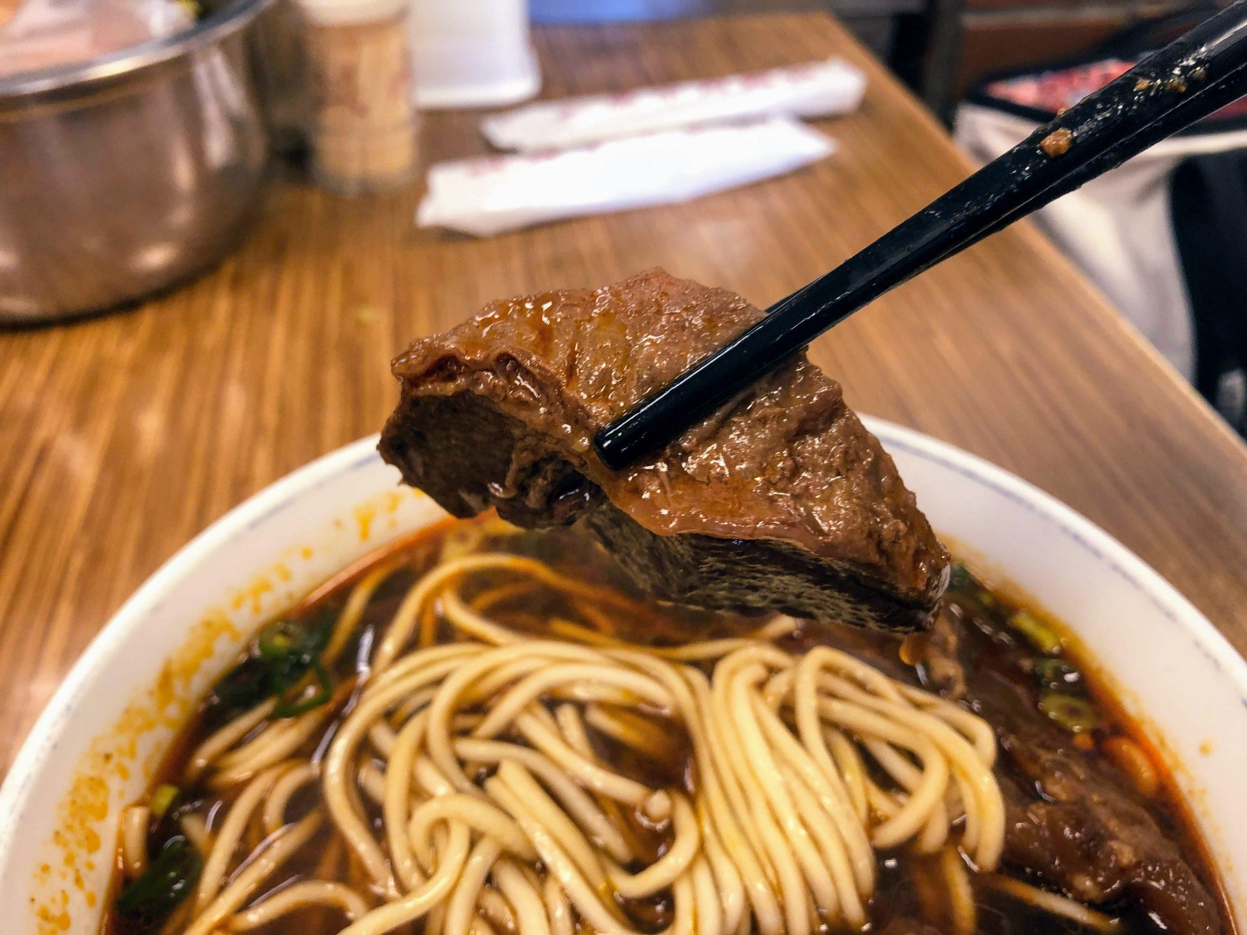永康牛肉麺の牛肉麺の牛肉