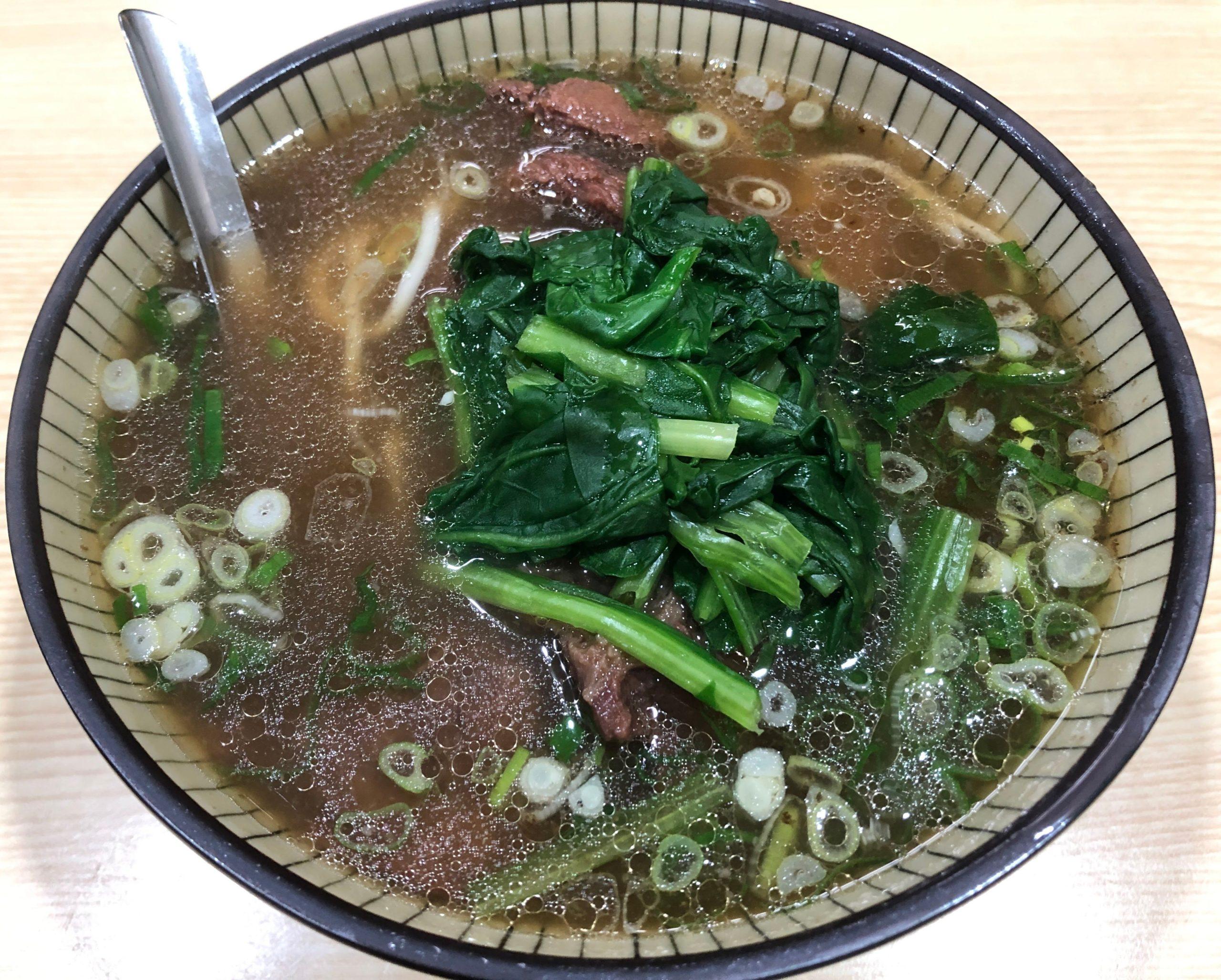 廖家牛肉麺の牛肉麺